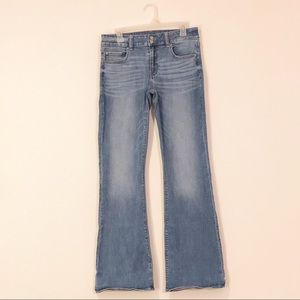 American Eagle Medium Wash Bell Bottoms Jeans